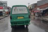 Tim Sukses Cagub dan Wagub Dilarang Pasang Stiker di Angkot