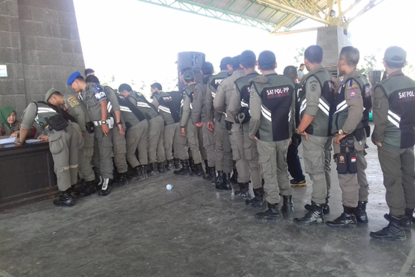 Gelar Pasukan Satpol PP Kab Bandung Jelang PAM Lebaran