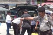 Mengantisipasi Teroris, Polres Samosir Razia Dermaga Ferry Simanindo