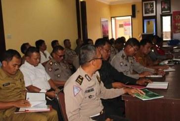 Pengamanan Lebaran, Polres Samosir Rapat Lintas Sektoral