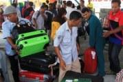 Kedatangan Pemudik dari Malaysia di Pelabuhan Dumai Mulai Melonjak