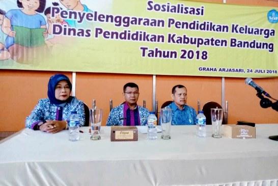 Disdik Kab Bandung Gelar Sosialisasi Pendidikan Keluarga
