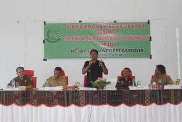 Kejari Samosir Sosialisasi Hukum Tentang TP4D