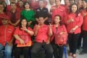 Pendaftaran Bacaleg PDI-P ke kantor KPU Samosir.