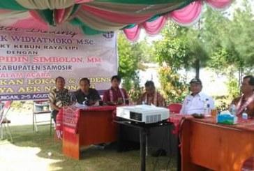 LIPI Survey Study Kelayakan Kebun Raya Aek Natonang