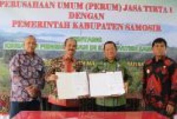 Perum Jasa Tirta I dan Pemkab Hijaukan Sepakat Samosir