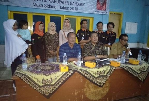 Reses Dadan Konjala Masa Sidang I ,Perkuat Perda SLRT Kab Bandung