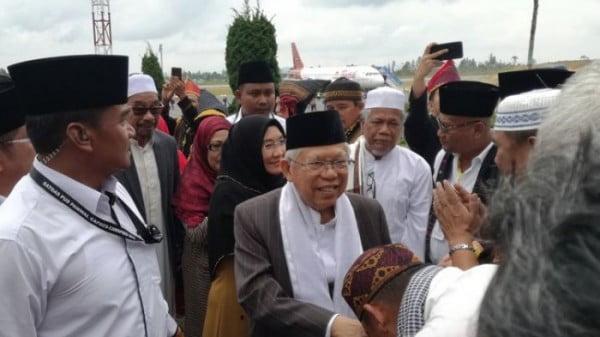 Ma'ruf Amin Tiba di Silangit, Silaturahim dengan Pimpinan Gereja