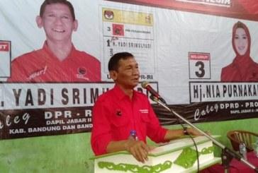 Sosialisasi dan Konsolidasi Caleg PDIP, di GOR Uber Sabilungan Pajagalan Banjaran