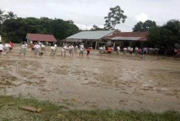 Banjir Bandang menerjang SMAN I Simanindo,Aktifitas Belajar Mengajar Terganggu.