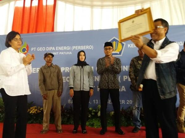 Sri Mulyani Hadiri Penyerahan Program Community Development