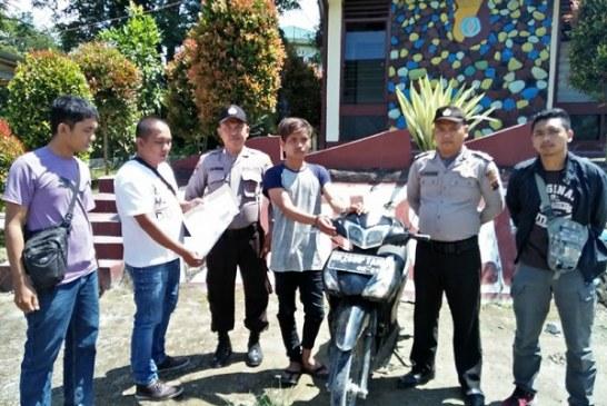 Pencuri Sepeda Motor di Samosir diciduk Polisi.
