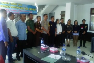 Deklarasi Pemilu Damai (FKPD) Seluruh masyarakat Samosir 2019.