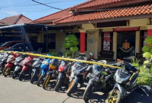 Polres Indramayu amankan 15 sepeda motor curian