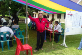 Penghitungan Surat Suara DPRD Tingkat Kabupaten di 3 TPS