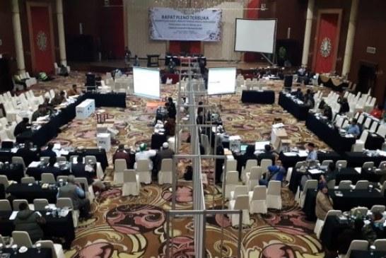Rapat Pleno Hasil Rekapitulasi Pemilu Tingkat Kabupaten Bandung Diskorsing
