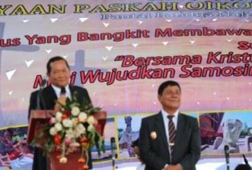 Perayaan Paskah Oikoumene Pemkab Samosir, Angkat Daya Tarik Pantai Pandua Nainggolan.