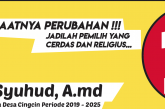 H.Aceng Syuhud A.md Calon Kades Cingcin, Saatnya Perubahan