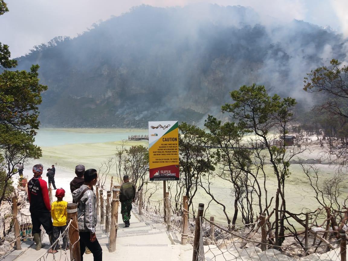 Tedy Sumarto: Titik Api di Objek Wisata Kawah Putih Sudah Mulai Mengecil