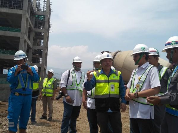 Wakil Bupati Tinjau Pelaksanaan Pembangunan RSUD Soreang