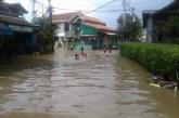 Hujan Deras Mengguyur Wilayah Kabupaten Bandung Sungai Citarum Meluap